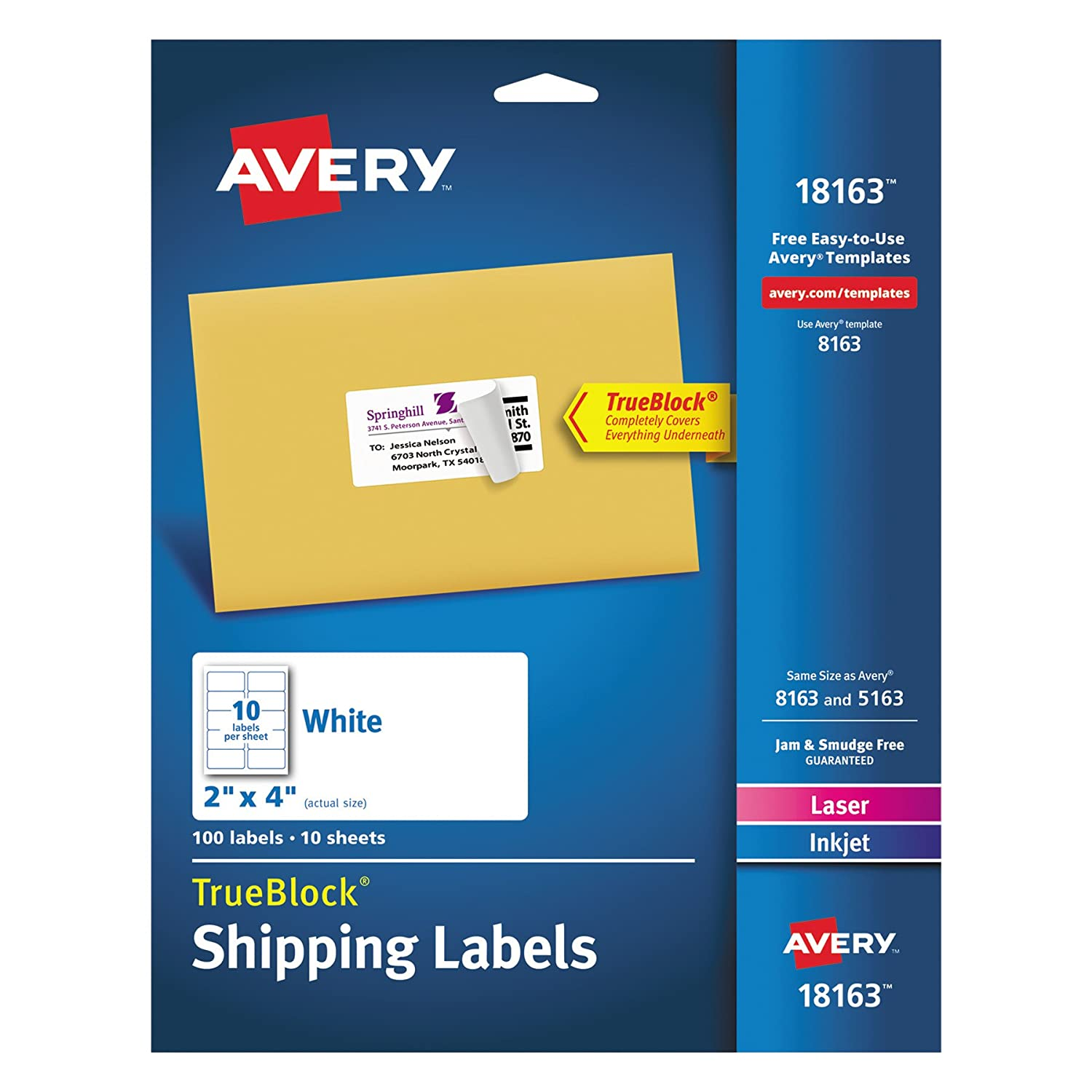 amazon com avery shipping address labels laser inkjet printers