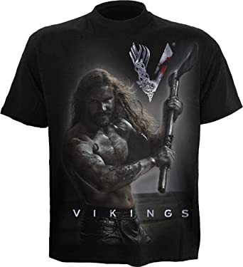 2945c333 Spiral Mens - Rollo Axe - Keep Calm - Vikings T-Shirt Black