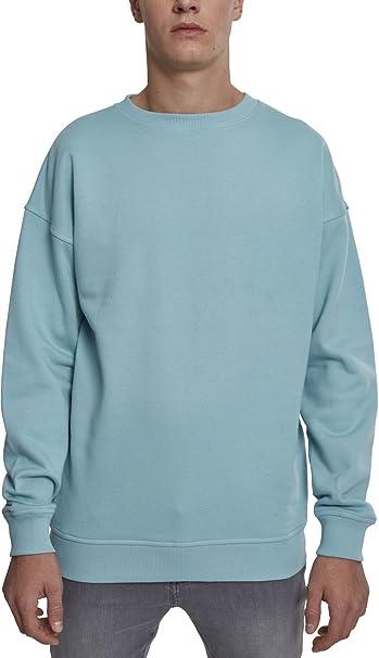 Sweat Crewneck, Jersey para Hombre, Azul (Blue Mint 01306), L (Talla del Fabricante: L) Urban Classics