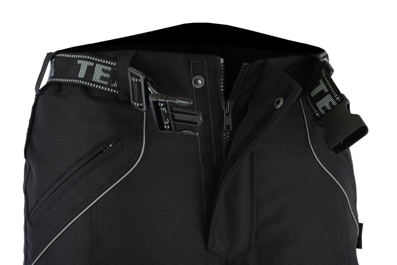 Alle Gr/ö/ßen Cordura Schwarz Textil Texpeed Herren Motorradhose mit Protektoren Wasserdicht