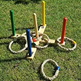 GrowUpSmart Ring Toss Game Set for Kids and Adults - Fun On The Lawn Or in The Yard for The Whole Family