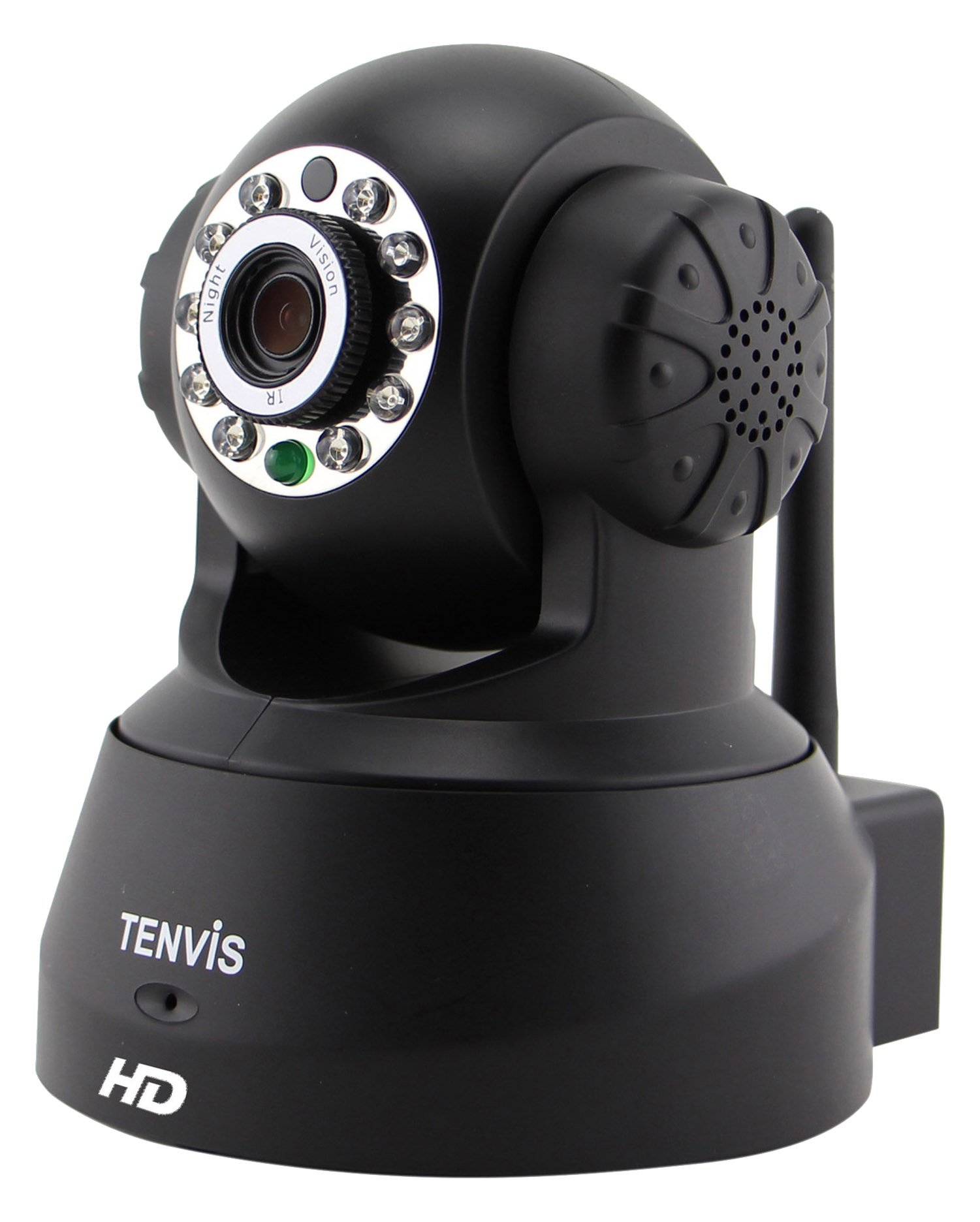 Tenvis JPT3815W-HD Smart Baby Monitor, 720P H.264 Megapixel P2P Home Wi-Fi Wireless Surveillance IP/Network Security Camera, Night Vision, Black