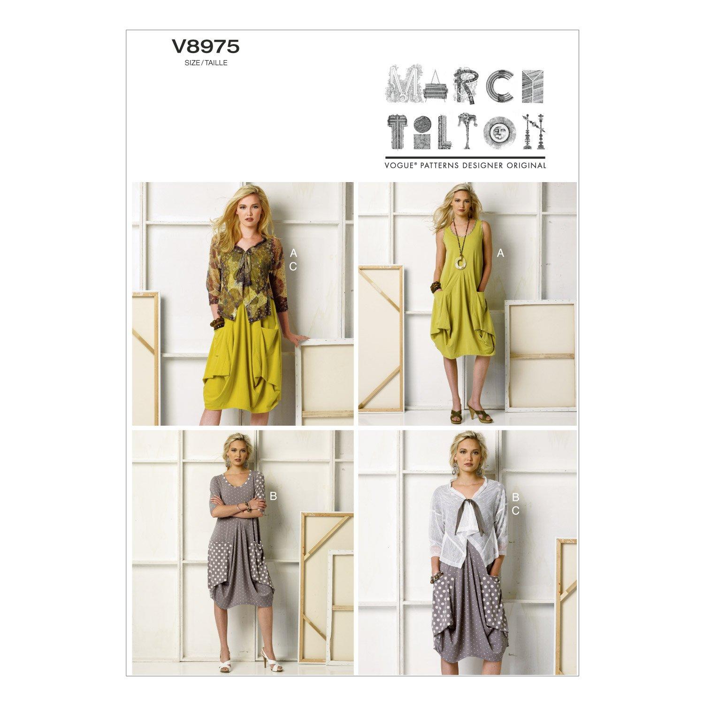 Amazon.com: Vogue Patterns V8975ZZ0 Misses\' Dress and Jacket Sewing ...