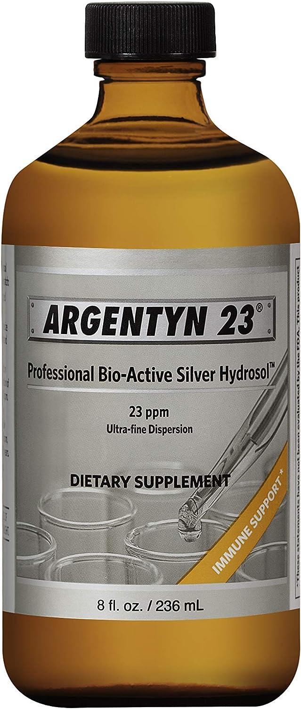 Argentyn 23® Professional Formula Bio-Active Silver Hydrosol for Immune Support* – 8 oz. (236 mL) Twist Top Bottle – Colloidal Silver – Colloidal Minerals