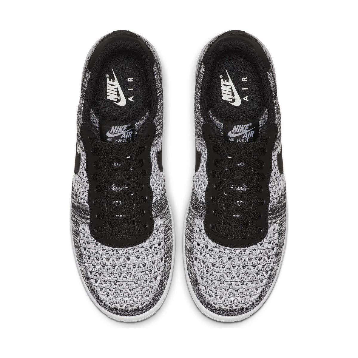 f09bb41f Amazon.com | Nike Air Force 1 Flyknit 2.0 Mens Sneakers AV3042-001, Black/Pure  Platinum-Black-White | Basketball