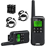 GOCOM G200 Family Radio Service (FRS) Walkie Talkies for Adults, Long Range Two Way Radios Rechargeable 22 CH NOAA VOX Scan F