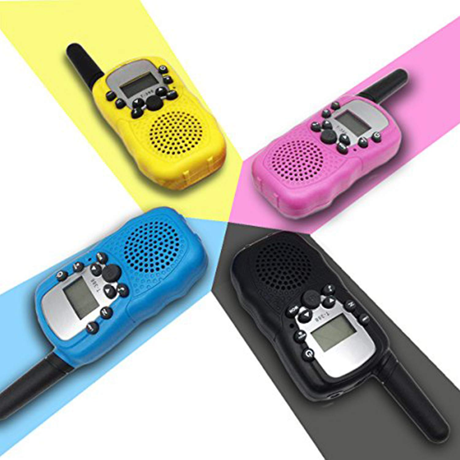4Pack Kids Walkie Talkie Girls Boys Long Range Two Way Radio 22 Channel LED Flashlight Marine Cruise FRS Camping Accessories Toys Hiking Family Games Outdoor Holiday Birthday Gifts [SUPER CUT] by iGeeKid (Image #2)