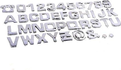 3D Chrome Letters Numbers Automotive Stickers Plastic Decals Crafts Symbols