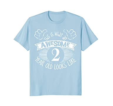 Mens 2nd Birthday Shirt Awesome 2 Year Happy Outfit 2XL Baby Blue