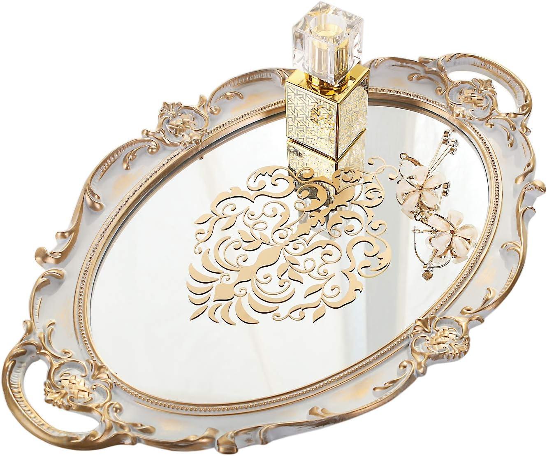 Simmer Stone Decorative Mirror Tray