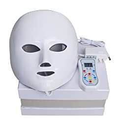Newkey Advanced 7 color LED Photon Therapy System Facial Skin Care & Beauty Mask