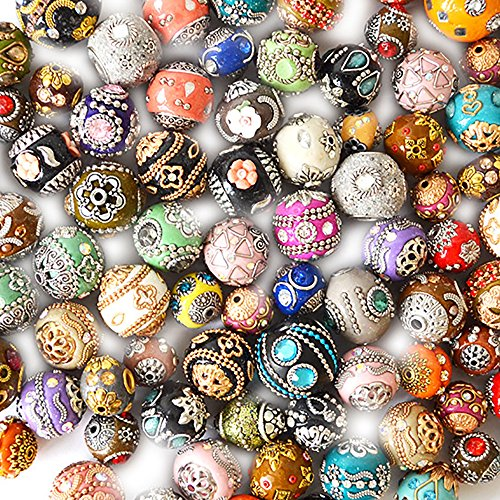 Jesse James Beads - 100 Piece Unique Clay Beads, Assorted Boho Bead Styles