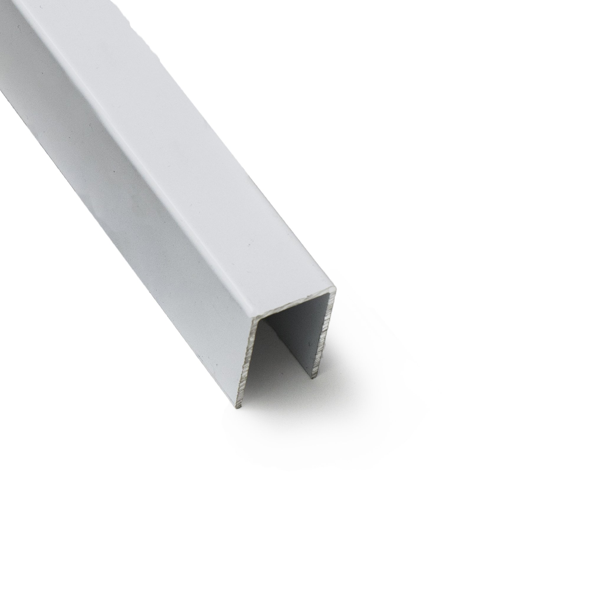 Sliding Screen Door Track - Top U Channel 5/8'' Wide x 1'' Deep (White)