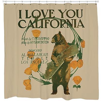 Amazon Sharp Shirter I Love California Shower Curtain Home