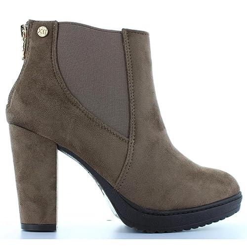 Botines de Mujer XTI 28325 Antelina Taupe Talla 41: Amazon.es: Zapatos y complementos