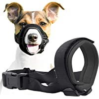 Gentle Muzzle Guard for Dogs - Prevents Biting and Unwanted Chewing Safely Secure Comfort Fit - Soft Neoprene Padding…