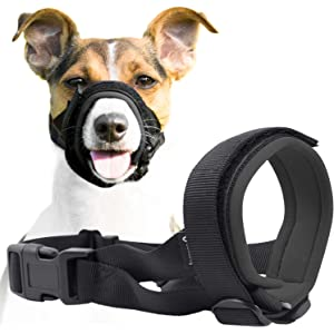 Gentle Muzzle Guard Dogs - Prevents Biting Unwanted Chewing Safely Secure Comfort Fit - Soft Neoprene