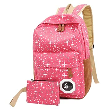 Teenagers Canvas Backpack School Bags Mochila Escolar, Outsta Schoolbag Backpack Classic Basic Casual Daypack Multicolor