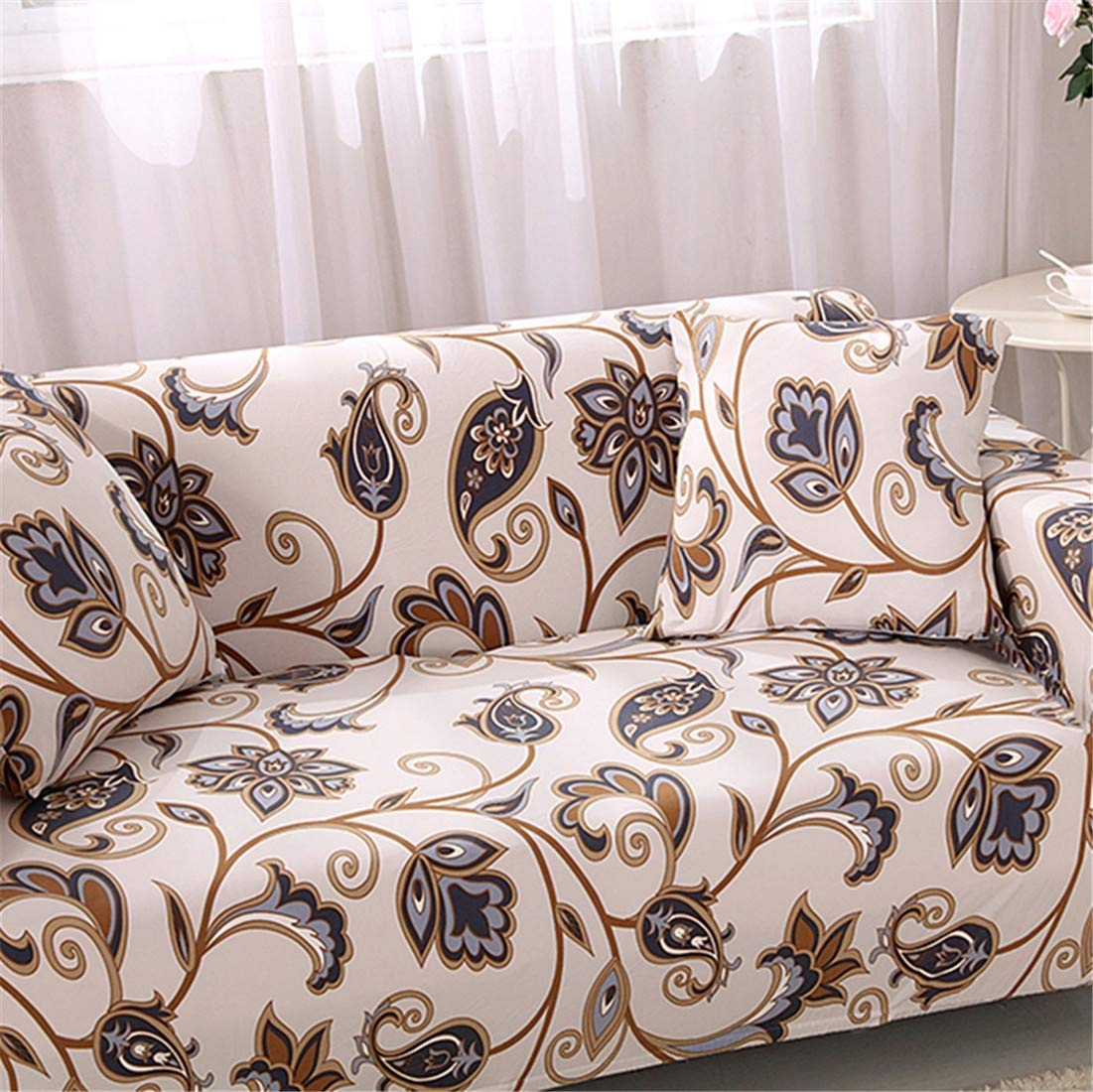 Chickwin Sofa Slipcover Elastic Fabric Pure Color Couch Protector Slip Cover Washable Furniture Protector 1pc Pillowcase: 45 x 45 cm,Autumn