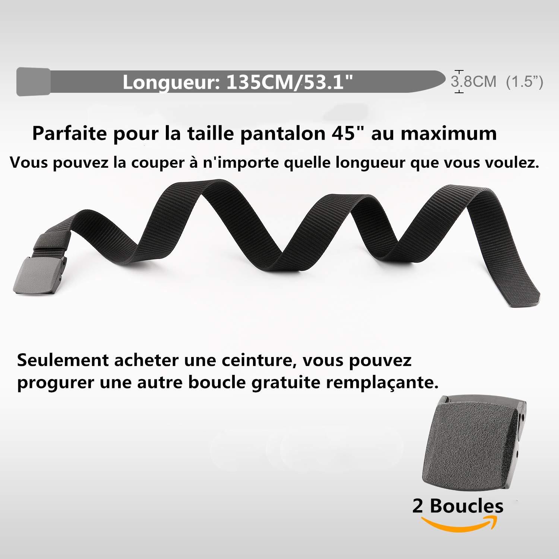 JasGood Herren Gürtel Taktischer Gürtel Nylon mit Leichter Stil Militärgürtel Verstellbarer Gürtel Atmungsaktive Leinwand Gürtel Praktischer Schnellspanner für Ausflüge, Bergsteigen, Camping, Wandern