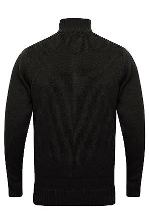buy popular 02155 78d82 Kensington Eastside Mens Karo Knitted Jumper Funnel Zip Neck Pullover  Sweater