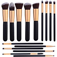 15 Pcs Makeup Brushes Set Kabuki Foundation Contour Blending Blush Concealer Face Eye Shadow Brush Synthetic Complete Cosmetic Brush Kit for Powder Liquid Cream