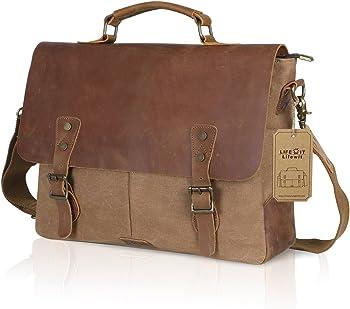 Lifewit Men Genuine Leather 15.6