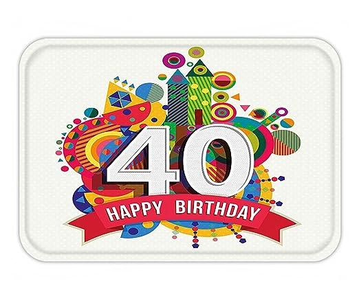 minicoso Felpudo 40th cumpleaños decoraciones grandes puntos ...