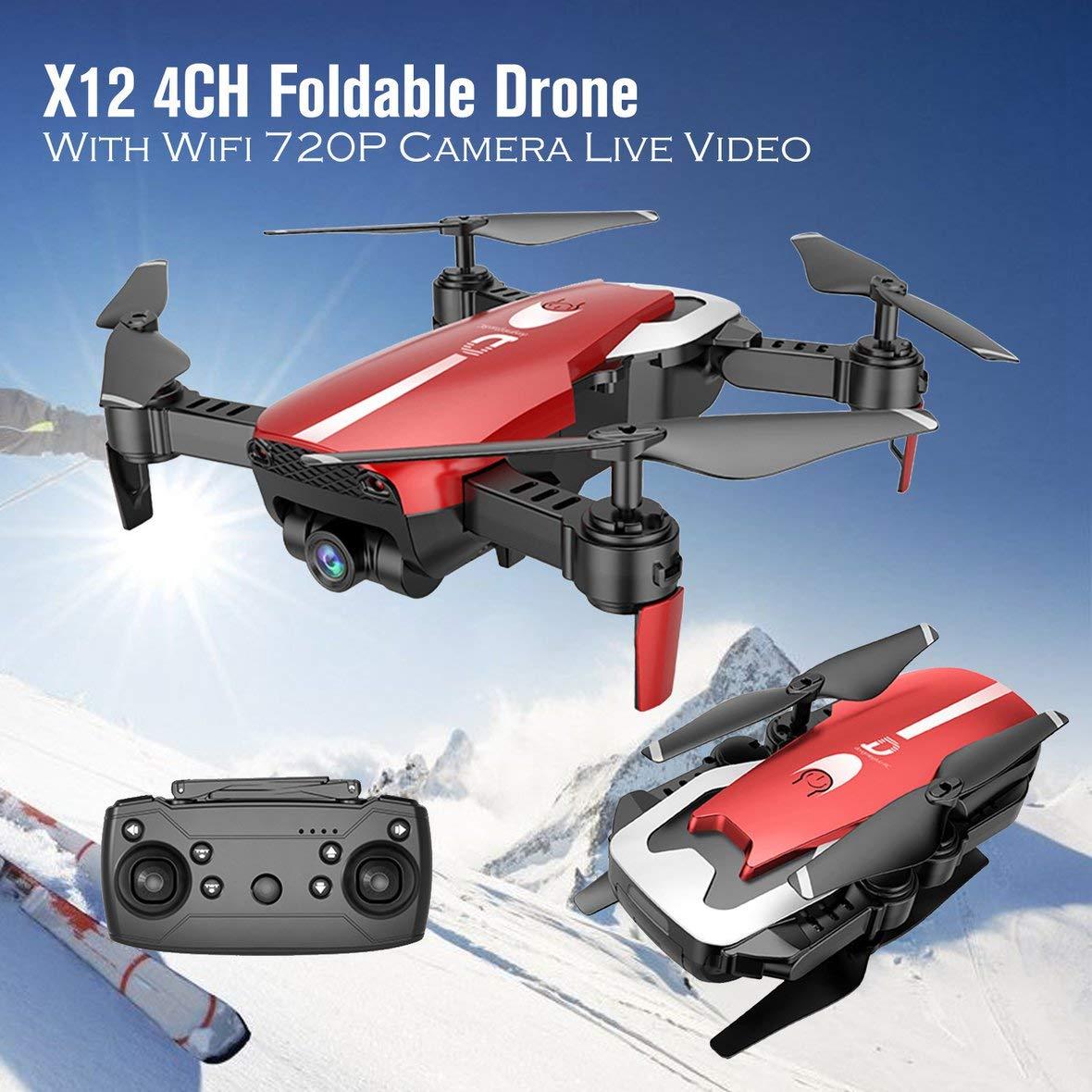 Amazon.es: Heaviesk para X12 4CH RC Drone Plegable Quadcopter ...