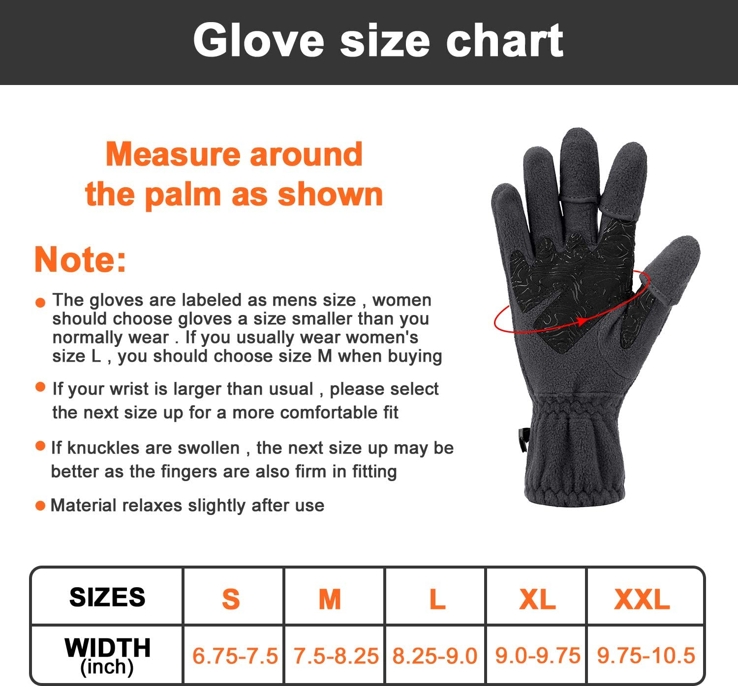 Palmyth Magnetic Fleece Fishing Gloves Convertible 3 Cut Fingers Ice Fishing Gloves Warm for Cold Weather and Winter Men Women Photography Running Outdoor