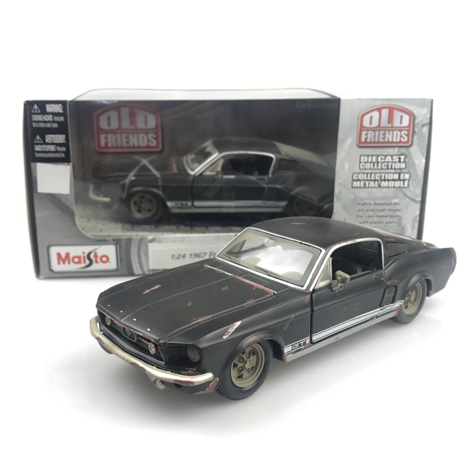 Amazon com maisto 124 scale 1967 ford mustang gt rusty old friends 1 24 diecast model car toys games
