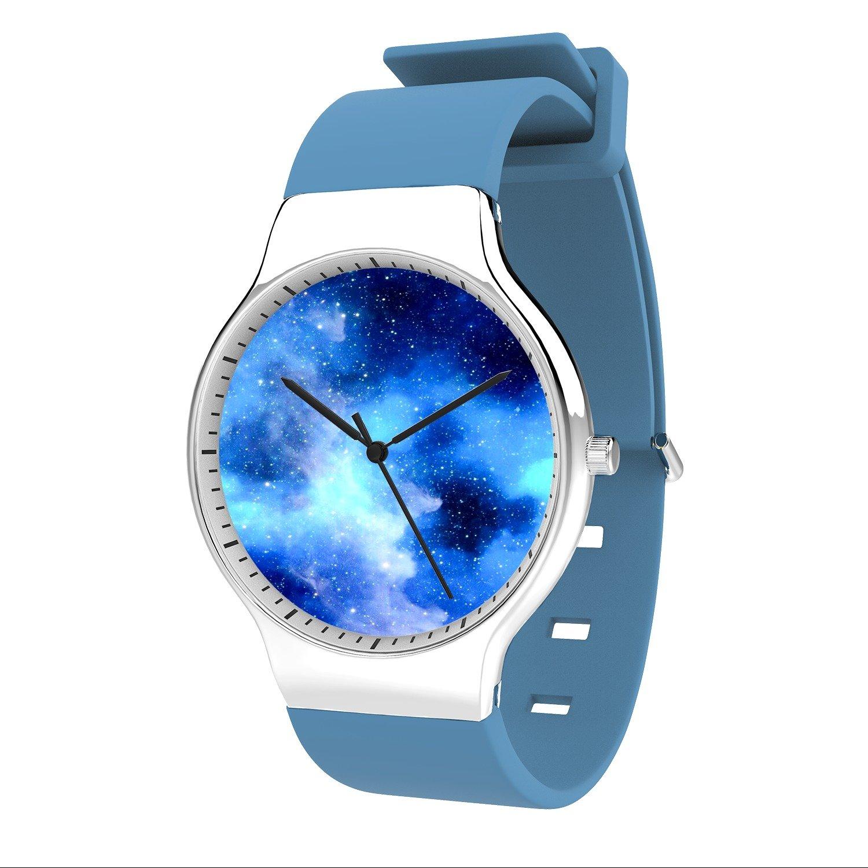 FELOOWSE Star Watch Men's Quartz Watches, Minimalist Slim Japanese Quartz Youth Silicone Watches, Fashion PracticalWaterproof Boys Watch Customized Watches