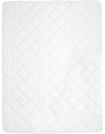 Umi. Essentials - Protector de colchón acolchado extragrande y lavable para todas las estaciones 90