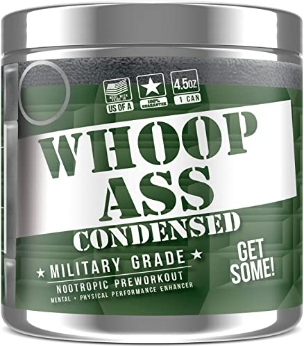 Whoop Ass Pre Workout Nootropic Energy Drink Powder Knockout Punch 30 Servings Grenade