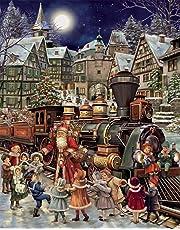 Calendario dell' avvento di Babbo Natale rail stop (countdown to Christmas)