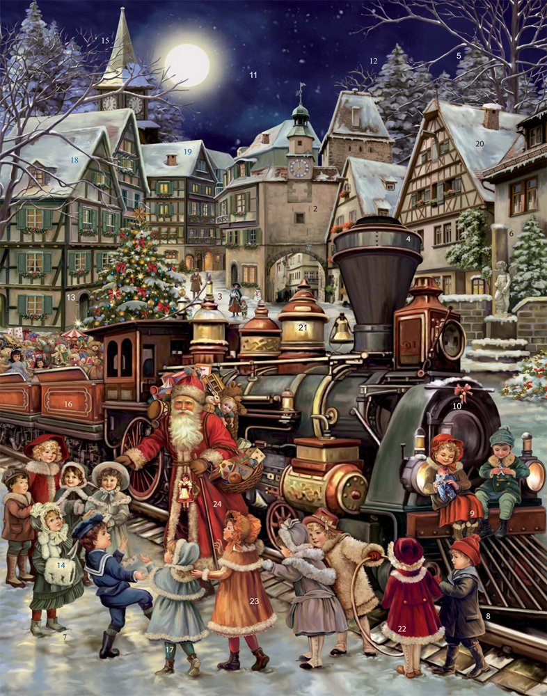 Santa's Rail Stop Advent Calendar (Countdown to Christmas) Vermont Christmas Company