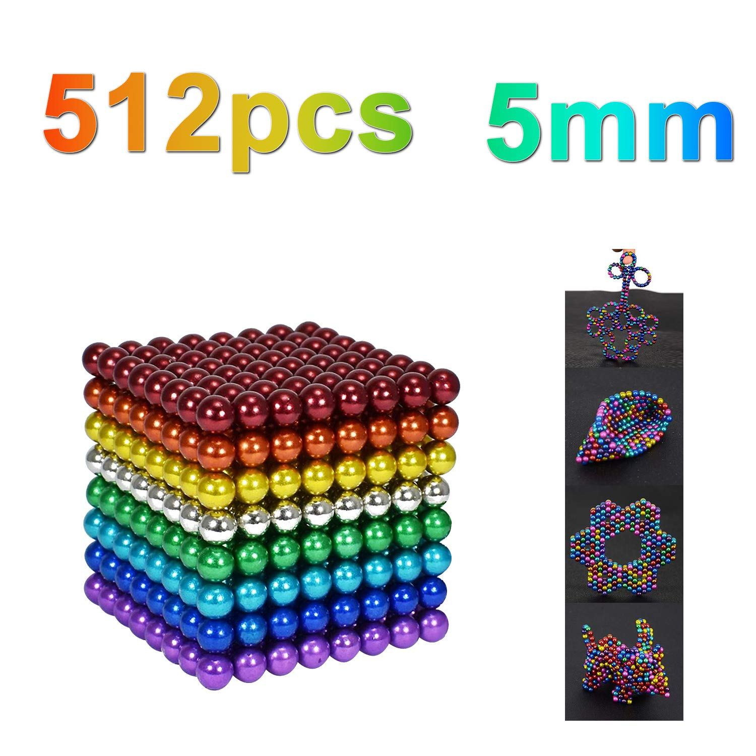 DOTSOG 512 Pieces 5mm Sculpture Building Blocks Toys for Intelligence DIY Educational Toys& Stress Relief for Adults by DOTSOG