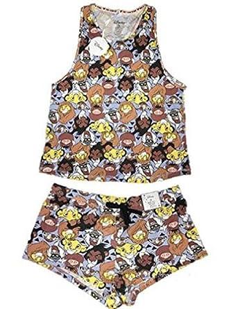 Primark Ladies Girls Womens Disney Lion King Pyjamas Vest Cami T Shirt Top Shorts Pajama Pyjama