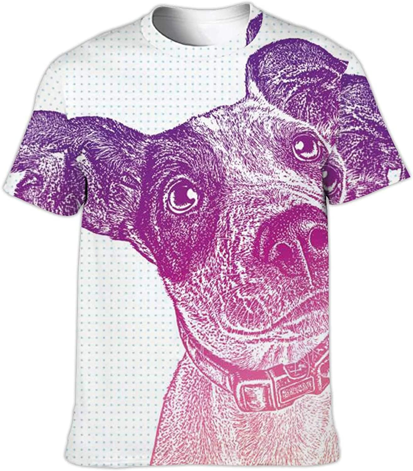 Dog Prints - - Paw Print,Seamless Workout Shirts Dry-Fit T-Shirts Stretch Tops Athletic Shirts Dog S