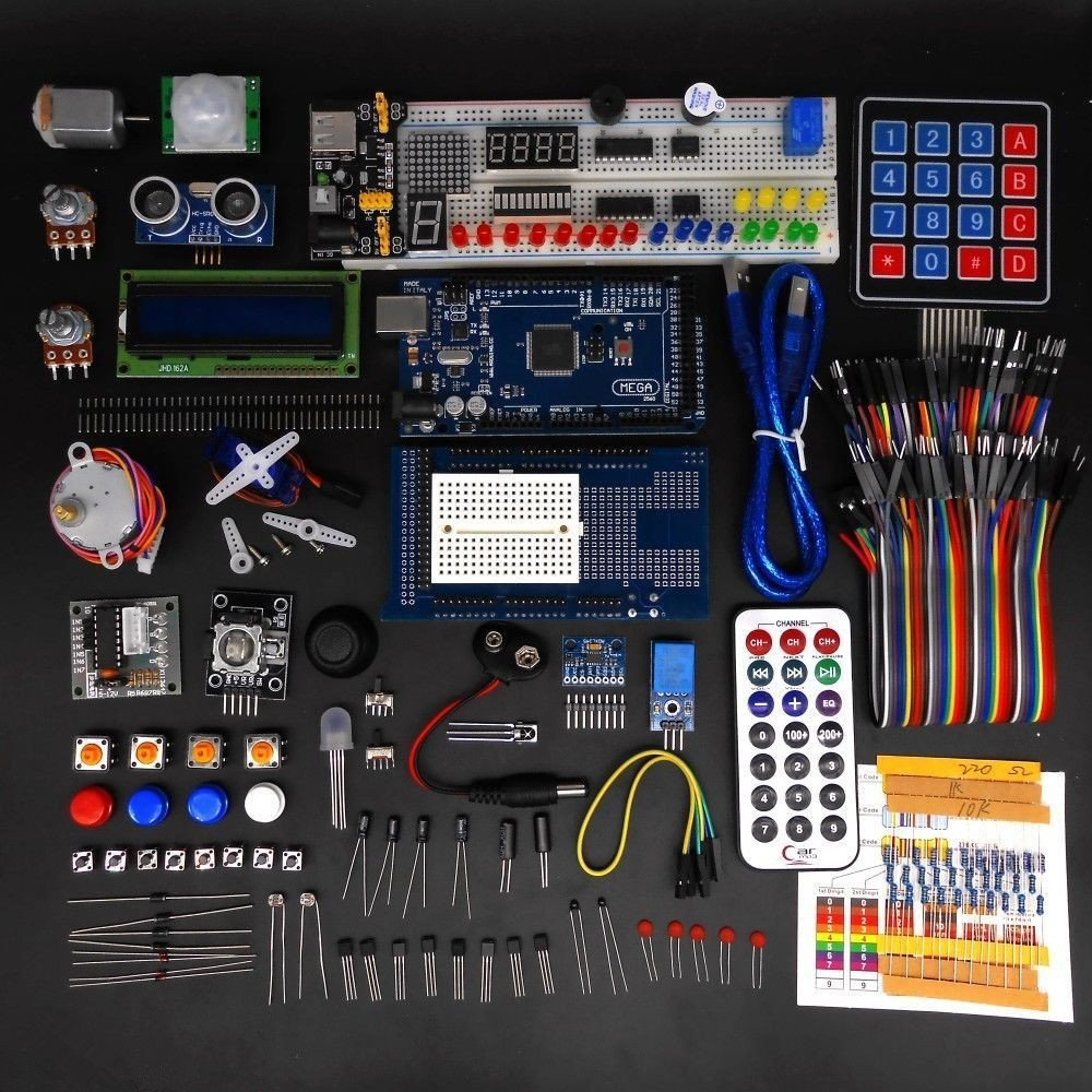 Complete Ultimate Starter Kit For Arduino With Mega2560 Elenco Scl 175 Snap Circuits Light Kids Learn Electronic Projects Lcd Servo Motor Sensorsbreadboard And Jumper Cable Toys Games