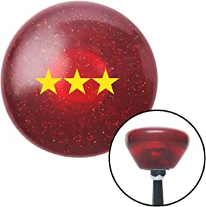 American Shifter 198923 Red Retro Metal Flake Shift Knob with M16 x 1.5 Insert (Yellow Officer 09 - Vice Admiral)