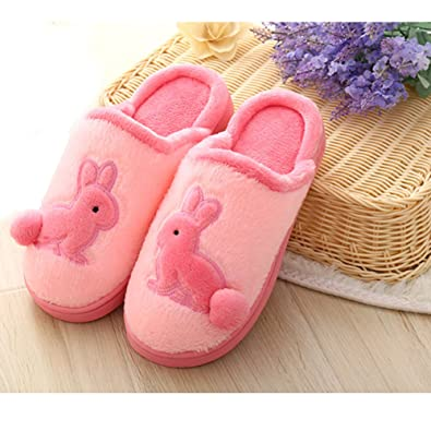 Solid Color Cotton Slippers Indoor House Soft Thermal Shoes for Men Women