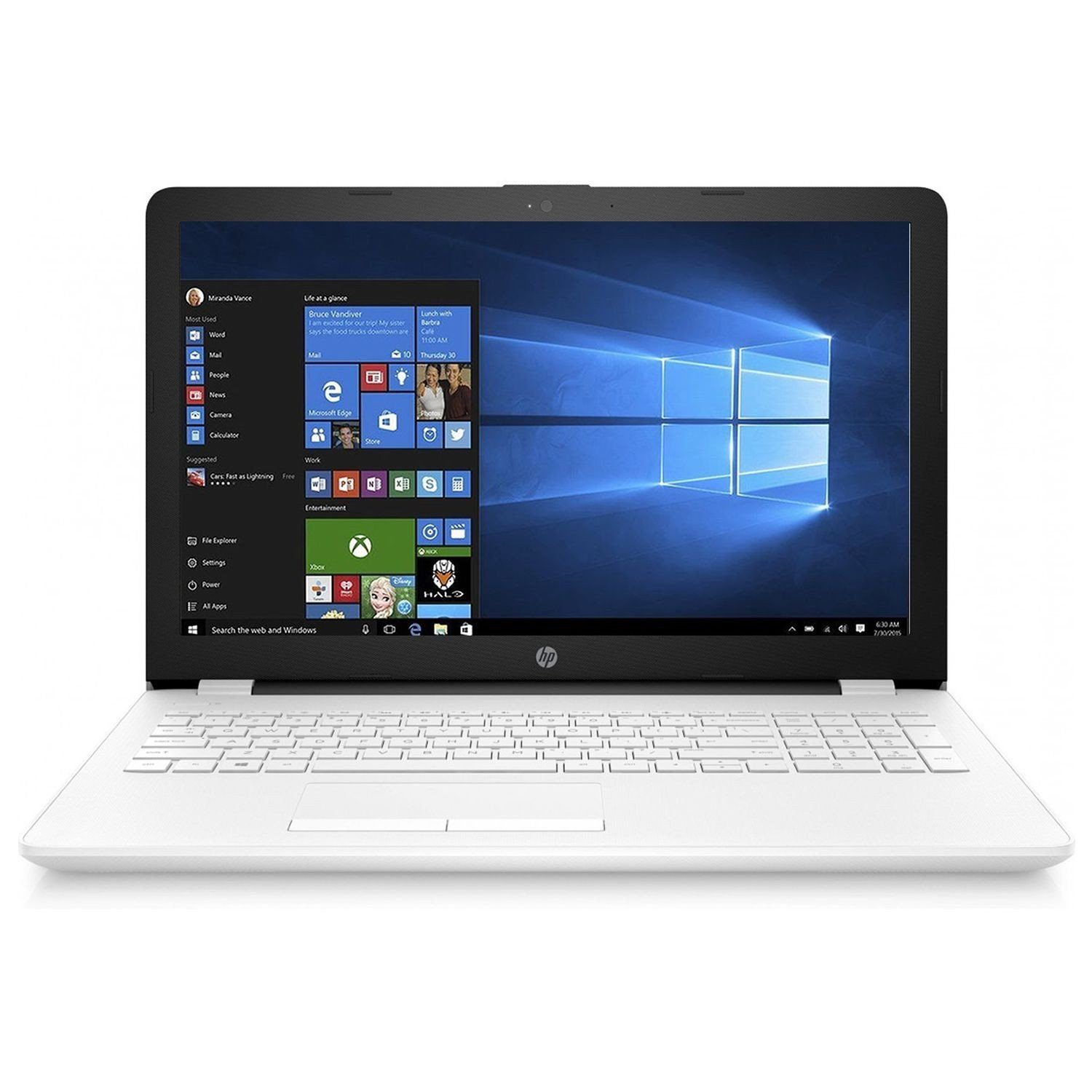 HP Notebook 15-BS006NS - Ordenador Portátil HD, Intel Core i3-6006U, 4 GB RAM, 500 GB HDD, Intel HD Graphcis , Windows 10, Negro, 15.6