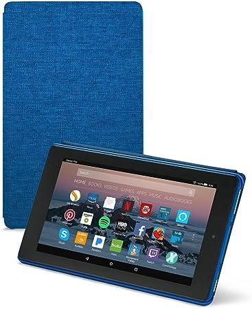 Amazon Com Amazon Fire 7 Tablet Case 7th Generation 2017 Release Marine Blue Kindle Store