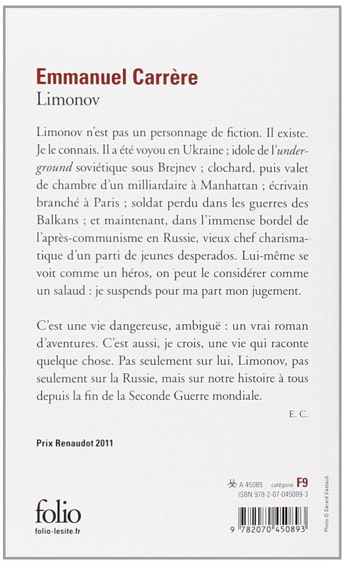 CARRÈRE TÉLÉCHARGER LIMONOV EMMANUEL
