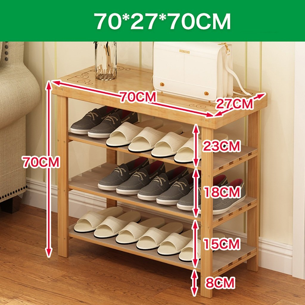 70CM shoes Bench Organizing Rack Natural Bamboo shoes Racks, Bench Chairs, Floor shoes, Assembly shoes Storage Rack