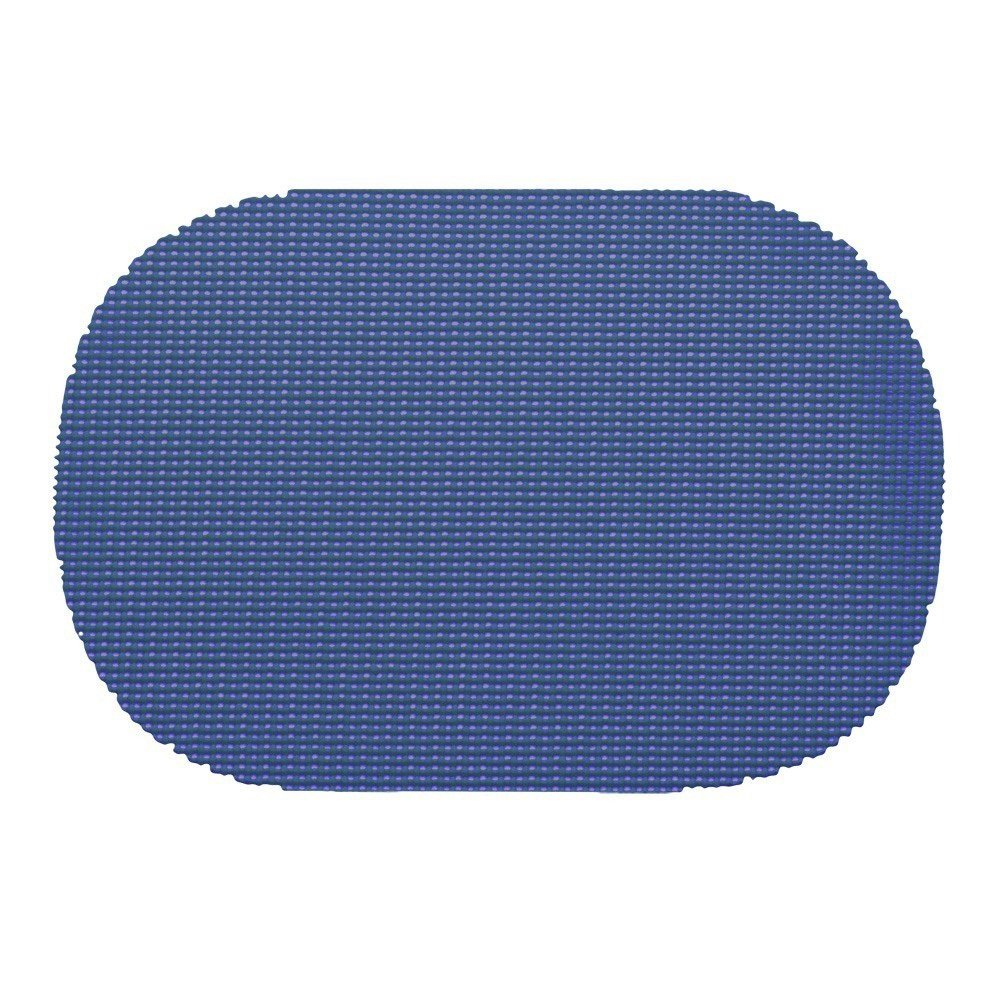 12 Piece Blue Placemats,(Set of 12), Machine Washable, Solid Pattern, Oval Shape, Contemporary And Traditional Style, Perfect For Everyday Entertaining, Season Or Holiday Lace Material, Light Blue