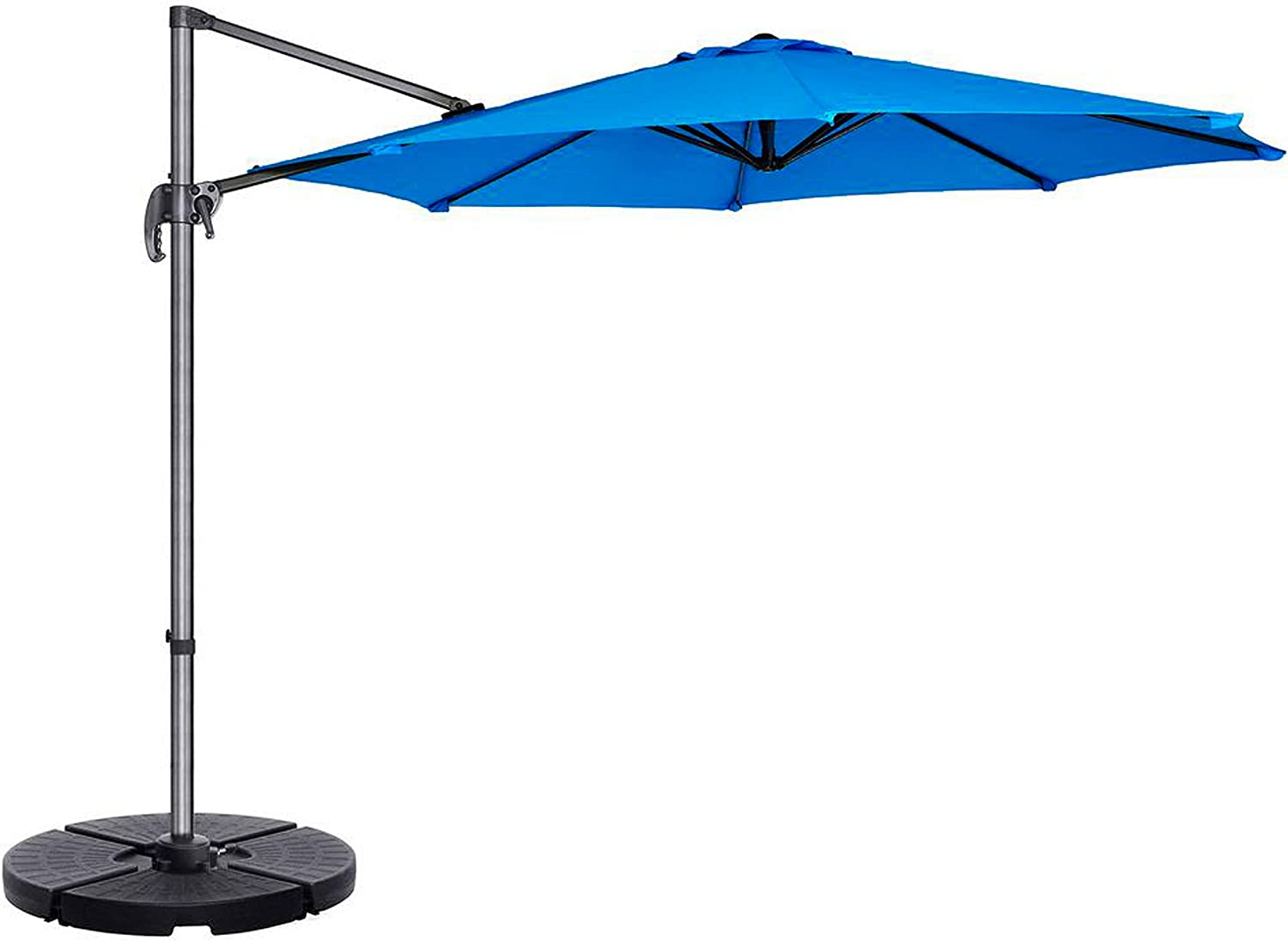 """Formosa Covers Replacement Umbrella Canopy for 11ft 8 Rib Supported Bar Cantilever Market Outdoor Patio in Capri Blue Rib Length 64"""" to 66"""" Premium Vibrant Olefin Fabric (Canopy Only) (11ft 8 Ribs)"""