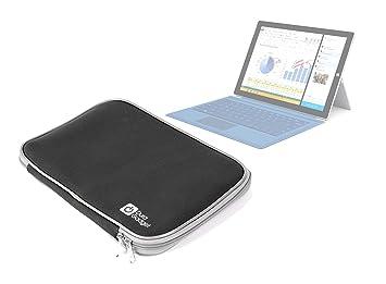 DURAGADGET Funda Negro Funda de Protección Resistente a los golpes y al agua para Tablet táctil/ordenador portátil Microsoft Surface Pro 3 12 pulgadas ...
