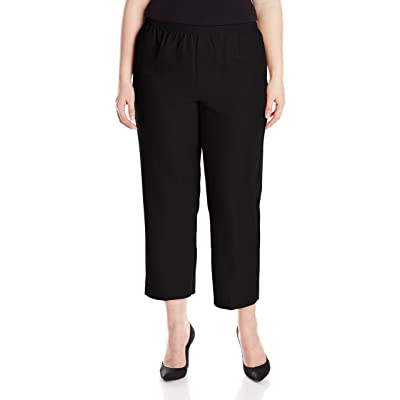 Alfred Dunner Women's Plus-Size Poly Proportioned Short Pant at Women's Clothing store: Alfred Dunner Pants Plus Size